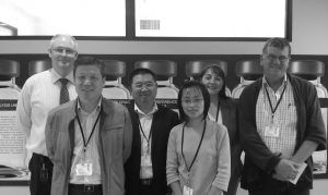 Our Chinese interpreter May CHEN assisting with quarantine veterinarians from China AQSIQ visiting a NRS approved laboratory