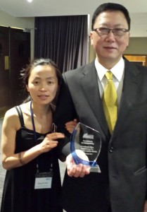 May with Best Interpreter Award Winner Joseph TU at 2013 AUSIT Excellency Award Ceremony
