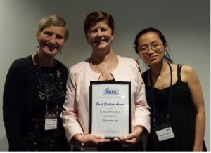 Meredith Barlette was awarded the 2013 AUSIT Contribution to Industry Excellency Award.